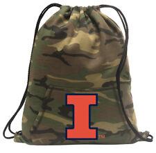 University of Illinois Cinch Pack Backpack COOL CAMO Illinois Illini Bags