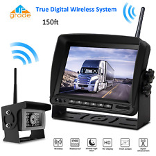 "Wireless Digital Rear View System 7"" Monitor+Reverse Camera VAN Truck RV Trailer"