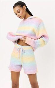 NWT Frankies Bikinis Burl Knit Multicolor Sweat Set- Size M