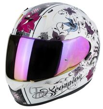 Casco Scorpion Exo-390 Chica Pearl White-black talla M