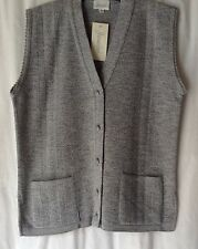 NEW LADIES PLUS SIZES 10-20 100% ACRYLIC KNITTED WAISTCOAT SLEEVELESS CARDIGAN