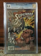 Superman: The Man of Steel #19 CGC 9.6 White Pages -- Doomsday Appearance