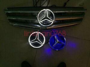 LED car front grille led logo badge emblem for Mercedes-Benz W205 C class 14-17