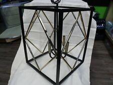 Elegant 4 Light Black & Gold Transitional Pendant Light Quoizel Platform