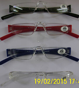Brille Notbrille CHEAP DUGGERT Lesebrille Lesehilfe +1,00; bis+3,50 Neu