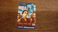 OLD AUSTRALIAN TELECOM PHONECARD, $5 CDB GLIDE WITH ME