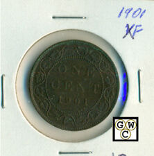 1901 Canada 1 Cent Coin ; XF