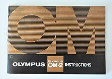 Olympus : OM-2 manual - notice d'utilisation - english