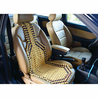 OLIVE WOODEN BEAD CAR/VAN/TAXI FRONT SEAT BEADED COVER CUSHION UNIVERSAL Massage