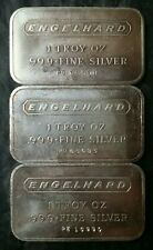 Three Engelhard 1oz Silver Bars