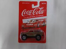 Coca Cola Die-Cast Metal Car Tan 4x4 NEW on Card by HARTOY