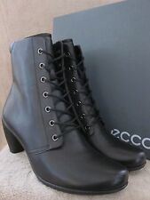 ECCO Sculptured 65 Mid Cut Lace Black Ankle Boots Shoes US 9 - 9.5 M EUR 40 NWB