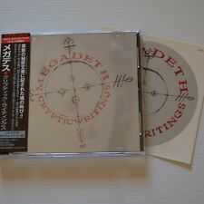 MEGADETH -Cryptic writings -1997 FIRST Press CD JAPAN