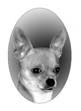 """4""""X6"""" CHIHUAHUA static cling etched glass window decal,  great on your car"""