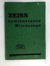 Original Zeiss Luminescene Microscope Sales Brochure - printed 1938