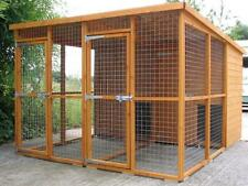 10ft x 8ft DOUBLE DOG KENNEL AND RUN (CAT RABBIT)