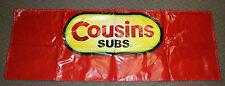 VTG Cousins Subs Restaurant Advertising Fast FoodVinyl Banner Sign 71 X 25 RARE