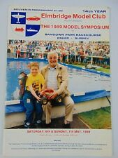 Elmbridge Model Club - 1989 Model Symposium Programme - Sandown Park Surrey -