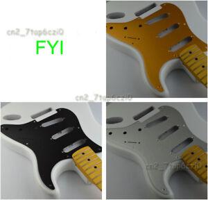 BRUSHED ANODIZED ALUMINUM Pickguard for Fender SSS Strat Electric Guitar 5 color