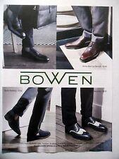 PUBLICITE-ADVERTISING :  BOWEN - 4 modèles  2015 Chaussures