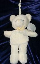 PRESTIGE MY FIRST 1ST TEDDY BEAR YELLOW GREEN MUSICAL CRIB PULL TOY ROCK A BYE