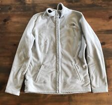The North Face Womens Coat-Size L-Gray-Zipper-Machine Washable-Fleece Jacket