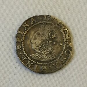 Queen Elizabeth 1st silver hammered halfgroat coin i