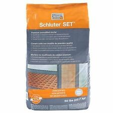 Schluter Set Grey 50 lbs bag Unmodified Thin-Set Mortar
