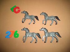LOTE PLAYMOBIL, CABALLOS, CHEVAUX, HORSEX, NORDISTAS, MEDIEVAL,MODERNO, LOTE 276