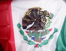 "MEXICAN FLAG : RED-WHITE-GREEN COLORS: CLOTH  ONE 60"" X 36"""
