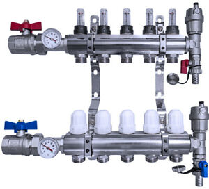 Floor Heating Manifold NORDIC TEC - Equipped - 2-12 circuits - EUROPEAN QUALITY