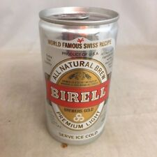 Vintage Birell empty beer can, pop tab, 12 oz, aluminum