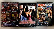 3- Spanish DVDs Lolitas Club, Valor En La Sangre(8movies) & 4 Action Movie Set