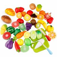 Food Fruit Vegetable Cutting Kids Pretend Play Educational Toy Safety Kitchen
