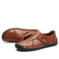 Men's Casual Leather Slip On Moccasins Lazy Boat Deck Driving Loafers Soft Shoes
