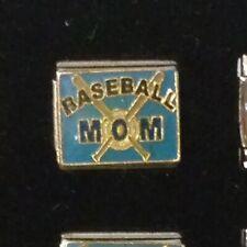 Baseball Mom / Mother - Italian Charm Bracelet Link 9mm