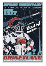 D23 Expo Space Mountain 40 Years Attraction Poster Jumbo Pin LE 1000