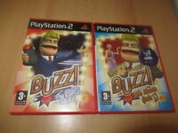 Buzz  Music Quiz and Buzz the big quiz   Sony PlayStation 2, ps2 pal version