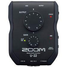 ZOOM U-22 interfaccia audio usb 2 in 2 out stereo per pc mac ipad