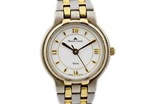 Vintage Maurice Lacroix 76201 Stainless Steel Two Tone Quartz Ladies Watch 1663