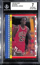 1987-88 Fleer Basketball Sticker Michael Jordan #2 BGS 7 NM