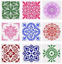 9er Set Muster Schablonen Nr. 50 auch für Scrapbook und Mixed Media Möbel