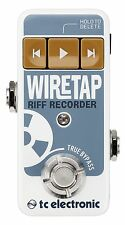 New TC Electronic Wire Tap Riff Recorder Guitar Effects Pedal! WireTap!