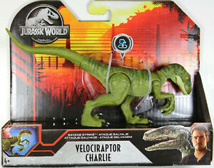 Jurassic World ~ SAVAGE STRIKE VELOCIRAPTOR CHARLIE ACTION FIGURE ~ Mattel