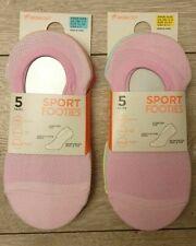 PRIMARK Ladies Girls 5 Pairs Workout Sport Footies Shoe Liners Trainer Socks New