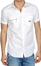 DIESEL SCARIC-SS 00WAJ WHITE SHORT SLEEVES SHIRT CHEMISE MANCHES COURTES M SIZE