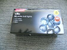 New box of Wilko 20 white ball lights