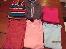 6-Girl Size 10-12 Winter Tops Danskin Fleece 1/4 Zip Bcg Pink L/S Fg Gray Tees