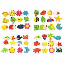 12pcs Fridge Magnet Wooden Cartoon Animals Novelty Kid's Kit Magnets Colour I6E0