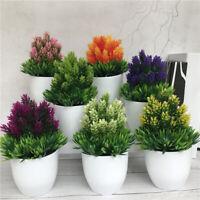 Mini Artificial Topiary Plants in Pot Small Office Fake Plant Home Garden Decor